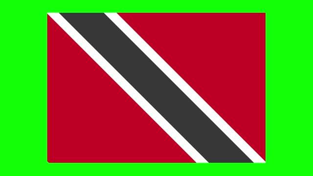 trinidadian and tobagonian flag animation on green screen background, chroma key, loopable - trinidad trinidad and tobago stock videos & royalty-free footage
