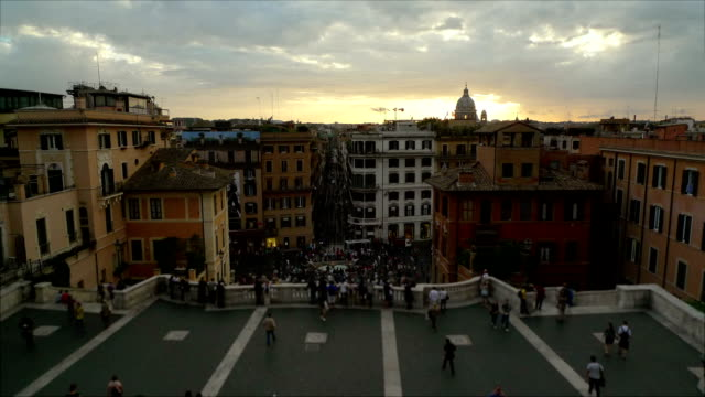 Trinita dei Monti and Spanish Steps Timelapse in Rome