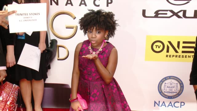 trinitee stokes at 47th annual naacp image awards at pasadena civic auditorium on february 05 2016 in pasadena california - pasadena civic auditorium stock-videos und b-roll-filmmaterial