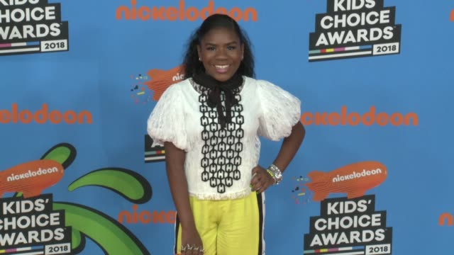 trinitee stokes at the nickelodeon's 2018 kids' choice awards at the forum on march 24 2018 in inglewood california - 31st annual nickelodeon kids' choice awards stock videos and b-roll footage