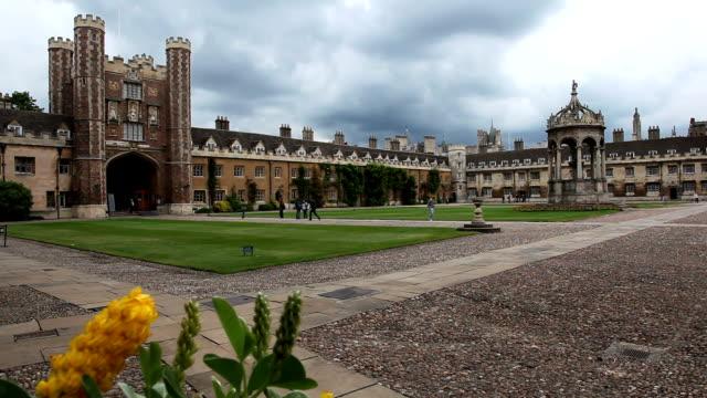 trinity college cambridge - cambridge university stock videos & royalty-free footage
