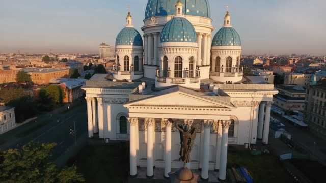 trinity-izmaylovsky cathedral and column of glory, st. petersburg, russia - st. petersburg russia stock videos & royalty-free footage