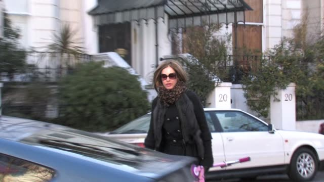 trinny woodall takes their child to school in west london, uk - school child stock videos & royalty-free footage