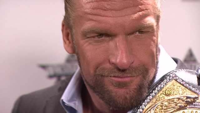 Triple H at the WrestleMania 25th Anniversary Press Conference at New York NY
