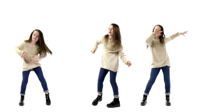 triplets dancing - three people stock videos & royalty-free footage