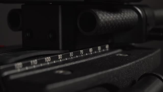 tripod plate of the movie camera - movie camera stock videos & royalty-free footage