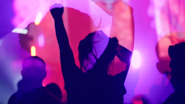 trippin girl dancing in a nightclub - illusion stock videos & royalty-free footage
