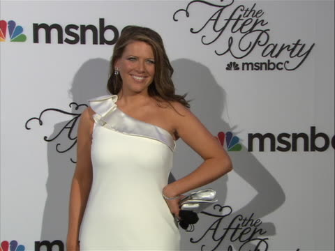 trish regan posing on the red carpet at the white house correspondent's dinner. - msnbc stock videos & royalty-free footage