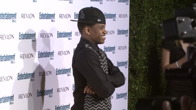 tristan wilds at the entertainment weekly 6th annual pre-emmy party at los angeles ca. - エミー賞前夜祭パーティー点の映像素材/bロール