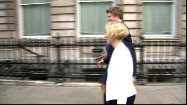tristram hunt says labour government would support free schools; lib england: london: westminster: ext new shadow cabinet members, gloria de piero mp... - gloria de piero stock videos & royalty-free footage