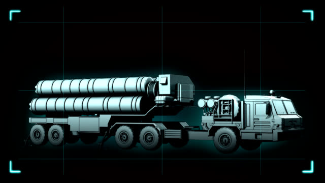 s-400 triumph animation - nuclear missile stock videos & royalty-free footage