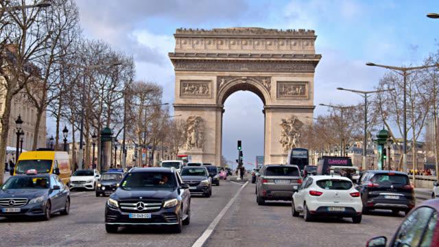 vidéos et rushes de triumph arc paris - arc élément architectural