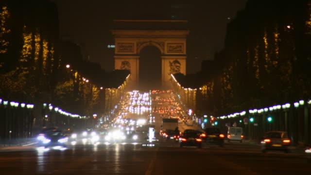 arco di trionfo a parigi hd - governo video stock e b–roll