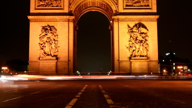 triumph arch - paris - conquering adversity stock videos & royalty-free footage
