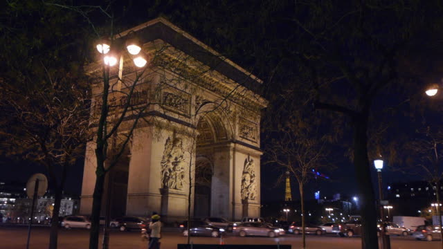 arc de triomphe - triumphbogen paris stock-videos und b-roll-filmmaterial
