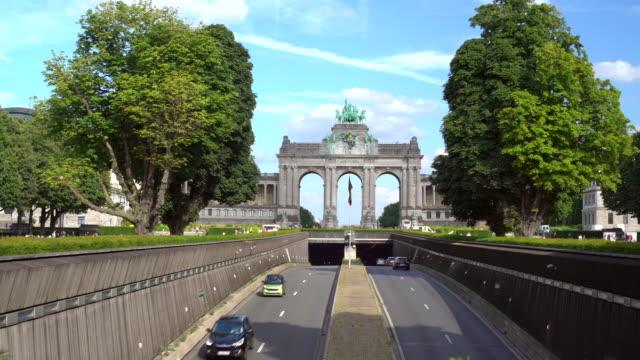 ブリュッセルの凱旋門 - ブリュッセル首都圏地域点の映像素材/bロール