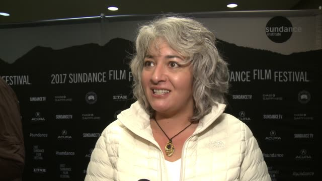"trixie garcia on the documentary and old family tales at amazon studios celebrates ""long strange trip"" at the 2017 sundance film festival with a... - ドキュメンタリー映画点の映像素材/bロール"