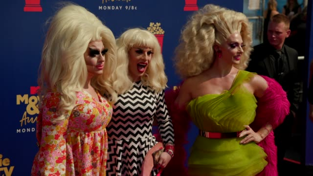 Trixie Mattel Katya Zamolodchikova and Molly McKinnon at the 2019 MTV Movie TV Awards at Barkar Hangar on June 15 2019 in Santa Monica California