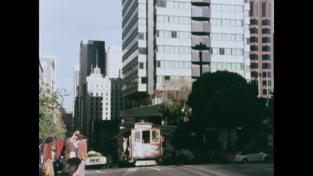 trolley bus ascends a hill and stops at the top - 1970 1979 stock videos & royalty-free footage