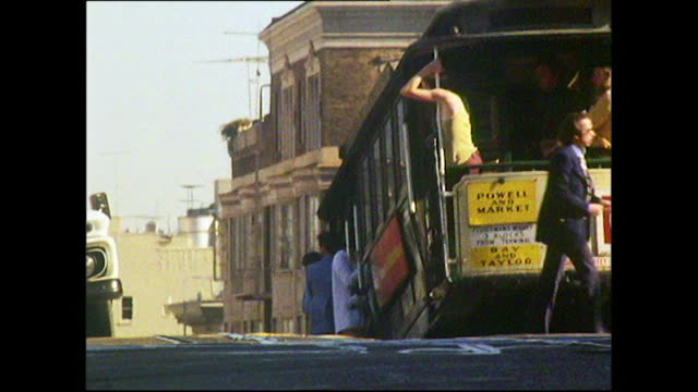 trolley buses and traffic in san francisco; 1972 - trolley bus stock videos & royalty-free footage