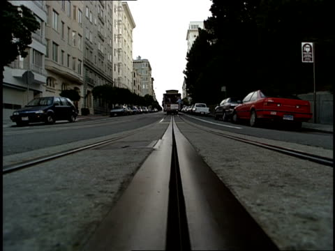 trolley car driving on street - 1990 stock videos & royalty-free footage