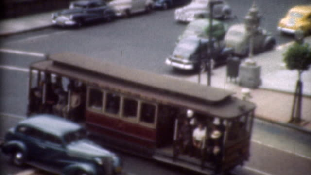 trolley in the 1940's. - 1940 stock videos and b-roll footage