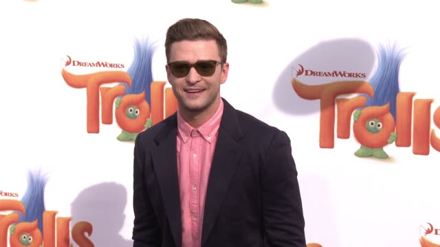 clean trolls los angeles premiere at regency village theatre on october 23 2016 in westwood california - justin timberlake stock-videos und b-roll-filmmaterial