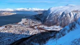 Tromsø, Norway. Inside the Tromso Cable Car (Fjellheisen)