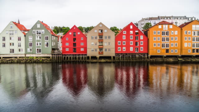Trondheim in Norway - Colorful Houses