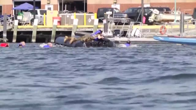 vídeos de stock, filmes e b-roll de c troop 1172nd mountain cavalry soldiers conduct amphibious operations training at the burlington waterfront the soldiers practice making poncho... - símbolo conceitual