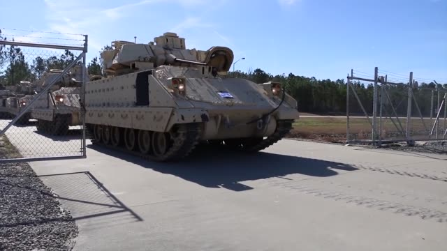 troopers of 6th squadron 8th cavalry regiment 2nd armored brigade combat team 3rd infantry division received their m3 cavalry fighting vehicles jan... - regiment stock videos & royalty-free footage