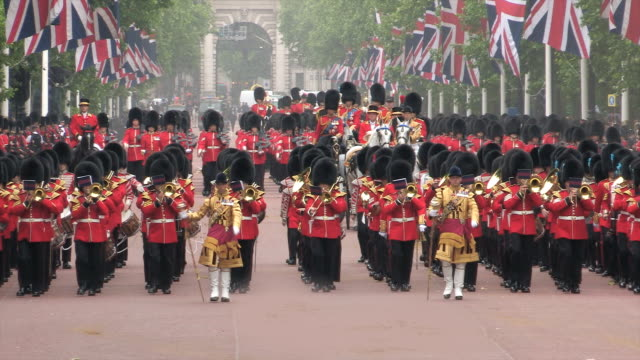 trooping the colour at buckingham palace - 2014 stock videos and b-roll footage