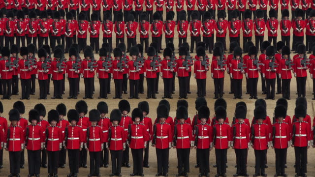 trooping the colour, the queens birthday parade, horseguards, whitehall, london, great britain - repetition stock videos & royalty-free footage