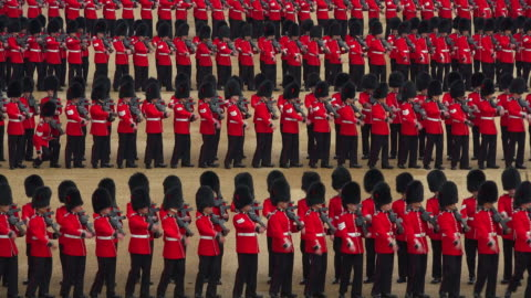 trooping the colour, the queens birthday parade, horseguards, whitehall, london, great britain - royalty stock videos & royalty-free footage