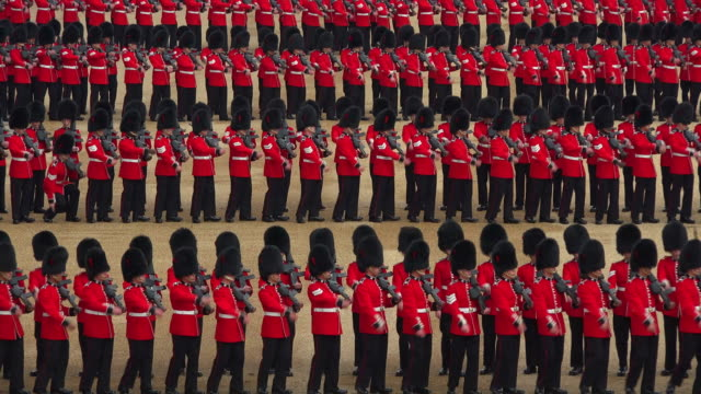 trooping the colour, the queens birthday parade, horseguards, whitehall, london, great britain - honour guard stock videos & royalty-free footage