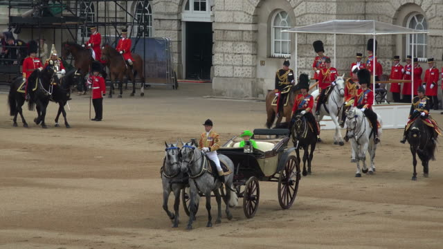 trooping the colour, the queens birthday parade, horseguards, whitehall, london, great britain - ceremony stock videos & royalty-free footage