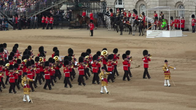 trooping the colour, the queens birthday parade, horseguards, whitehall, london, great britain - queen royal person stock videos & royalty-free footage