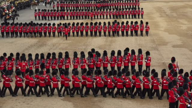 trooping the colour, the queens birthday parade, horseguards, whitehall, london, great britain - england stock-videos und b-roll-filmmaterial
