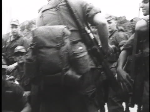 troops land in cam ranh bay, south vietnam. - south vietnam stock videos & royalty-free footage