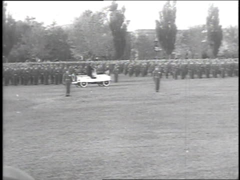 troops marching in formation / welcoming at ottawa - 1951 stock videos & royalty-free footage
