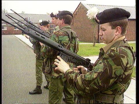 troops taking up defensive positions with rifles - bosnia and hercegovina stock videos & royalty-free footage
