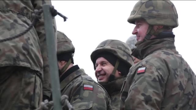 US troops travel from Germany to Poland to train with Polish soldiers in the use of Patriot Missiles and improve ground to air defense in Skwierzyna...