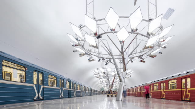 T/L WS PAN Troparyovo Metro Station / Moscow, Russia