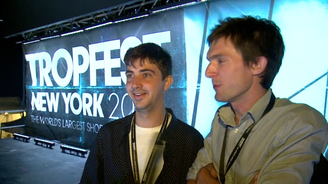 INTERVIEW Tropfest 2013 Winners Nick Baker and Tristan Klein on how excited they are to have won on how they are still jetlagged having just flown in...