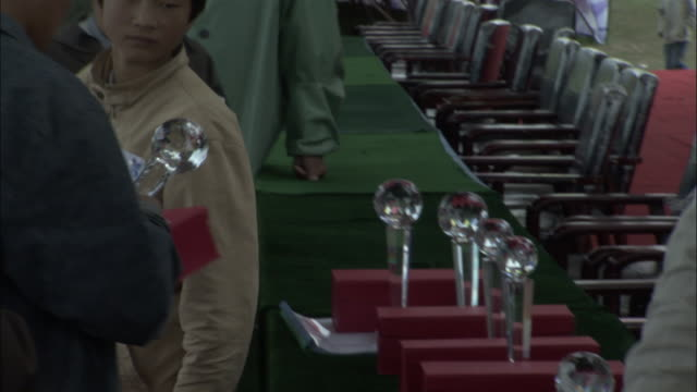 Trophies presented to winners at Naadam Horse Festival,