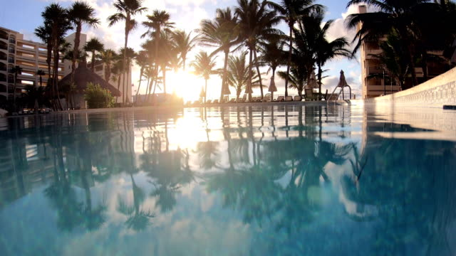 tropic luxury hotel poolside - poolside stock videos & royalty-free footage