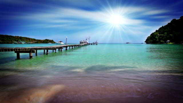 Tropical beach and pier