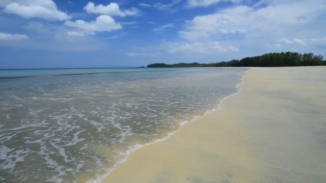 tropical beach ,blue sky - desert island stock videos & royalty-free footage