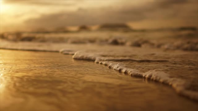 vídeos de stock, filmes e b-roll de pôr do sol da praia tropical - idyllic