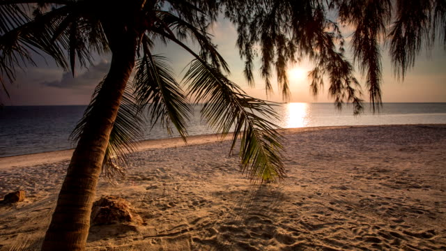 tropical beach sunset - ko phangan stock videos and b-roll footage